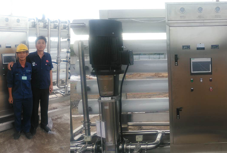 Vietnam customer satisfied our after-service to water treatment machine