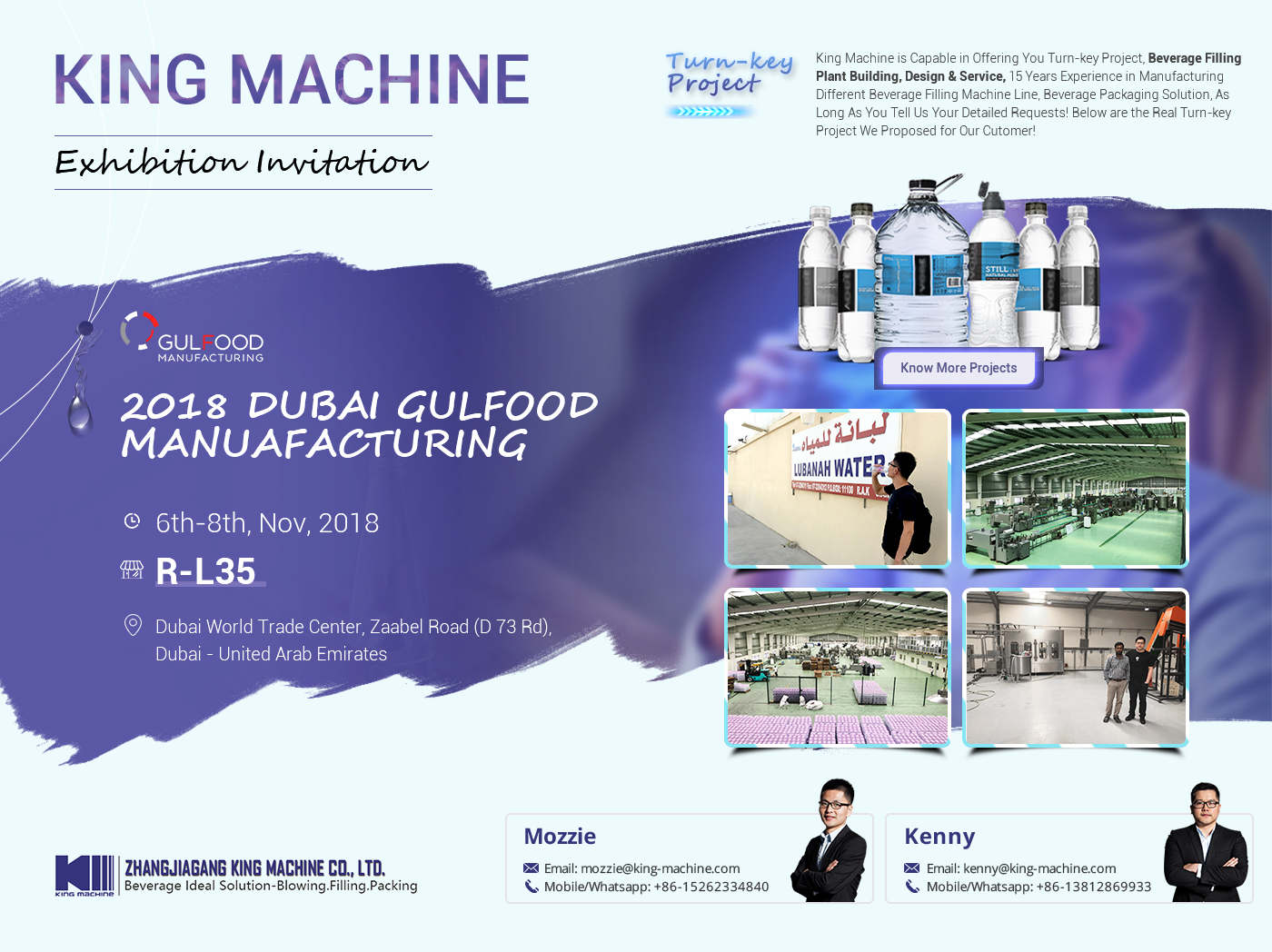 KING MACHINE IN DUBAI GULFOOD MANUAFACTURING 2018